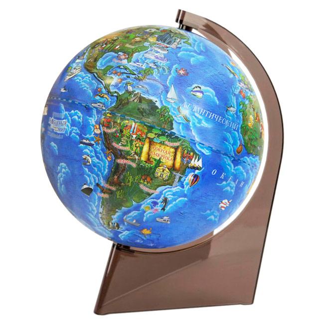 Картинка для Глобус Земли для детей, диаметром 210 мм, на треугольной подставке