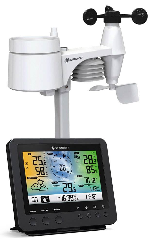 Картинка для Метеостанция Bresser (Брессер) «5 в 1» Wi-Fi с цветным дисплеем