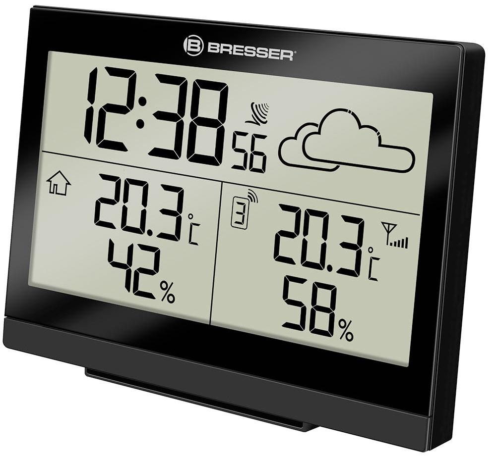 Картинка для Метеостанция Bresser (Брессер) TemeoTrend LG с радиоуправлением, черная