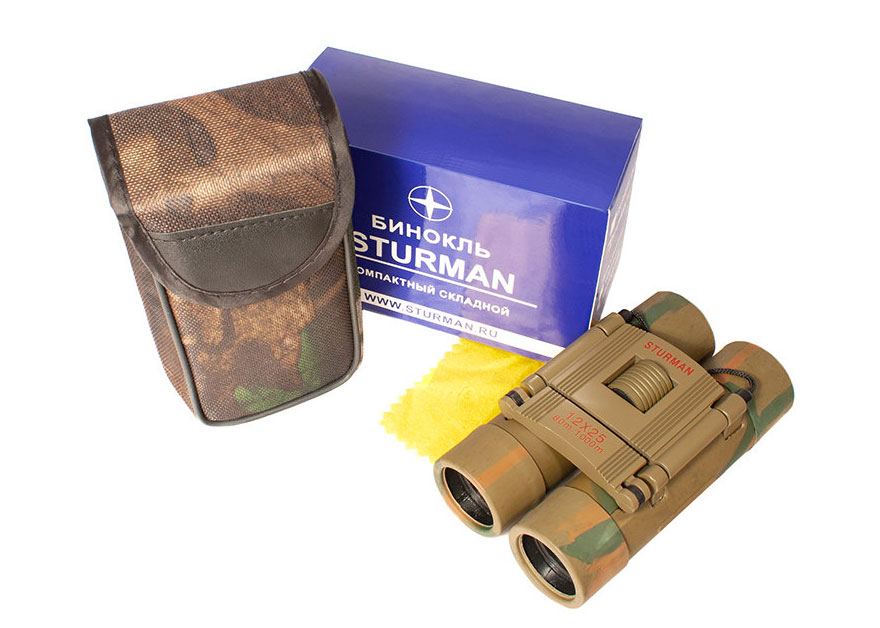 Картинка для Бинокль STURMAN 12x25, зеленый