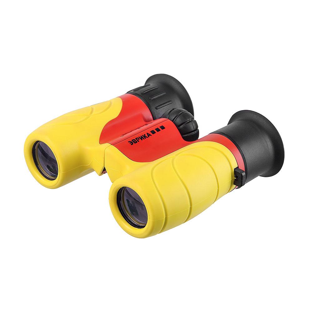 Бинокль детский Veber «Эврика» 6x21, желто-красный