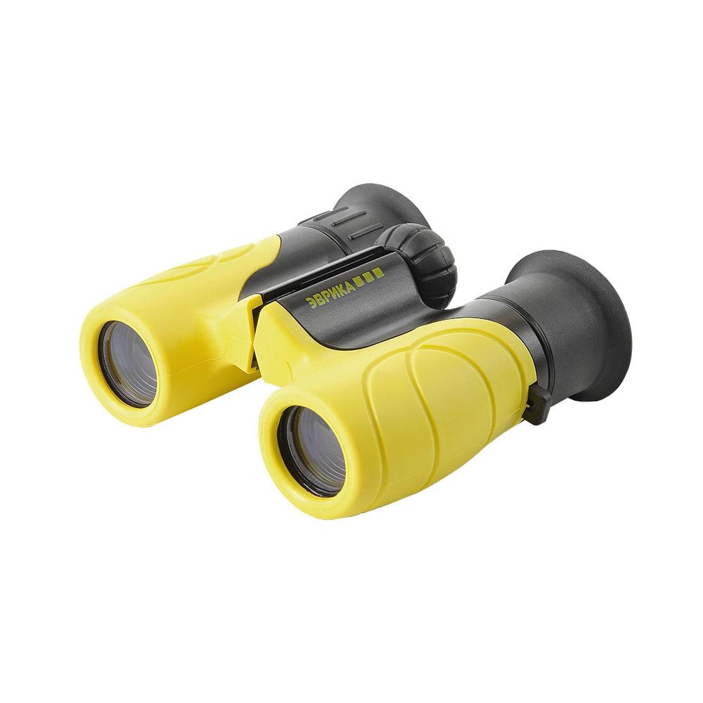 Бинокль детский Veber «Эврика» 6x21, желто-черный