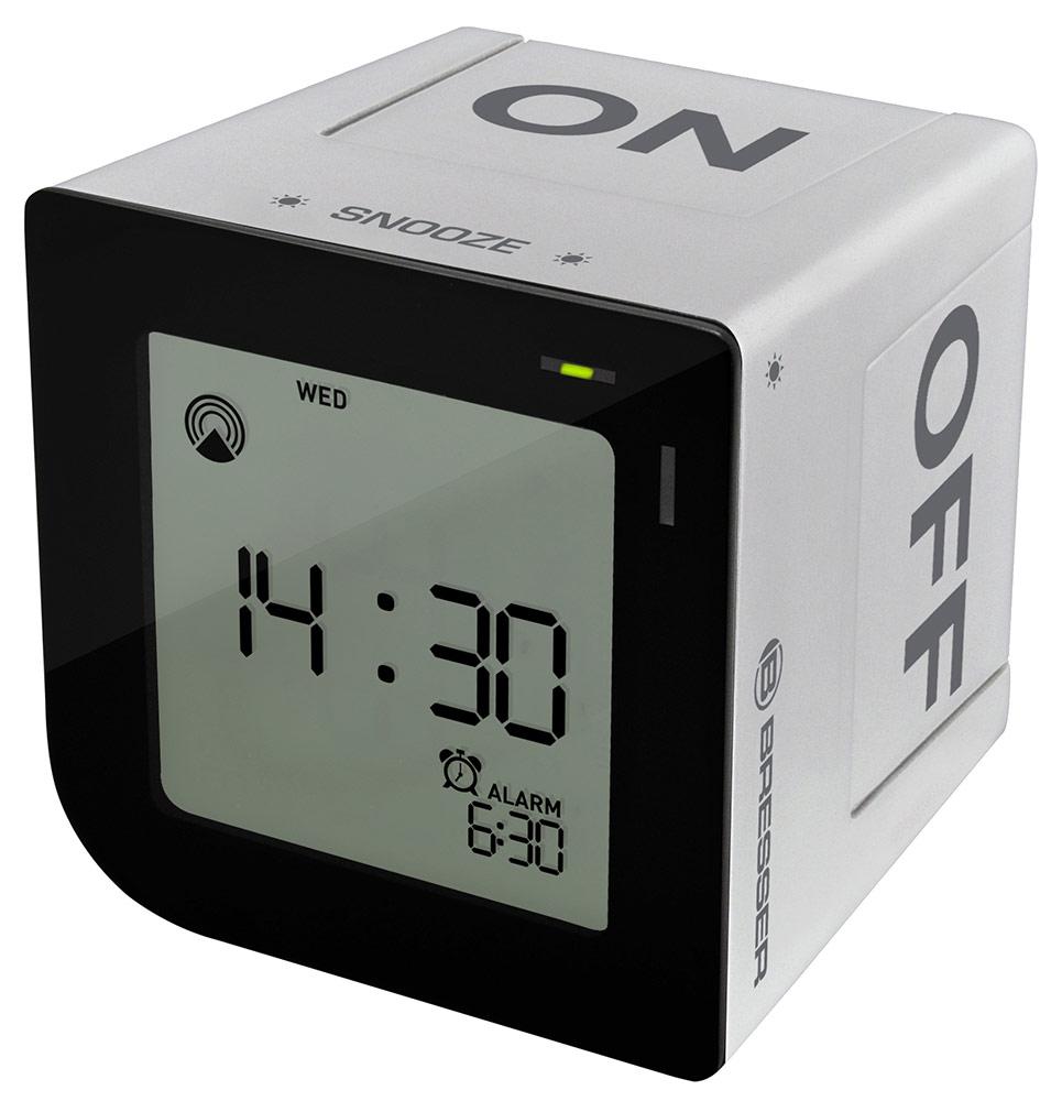 Картинка для Часы настольные Bresser (Брессер) FlipMe Alarm Clock, серебристые
