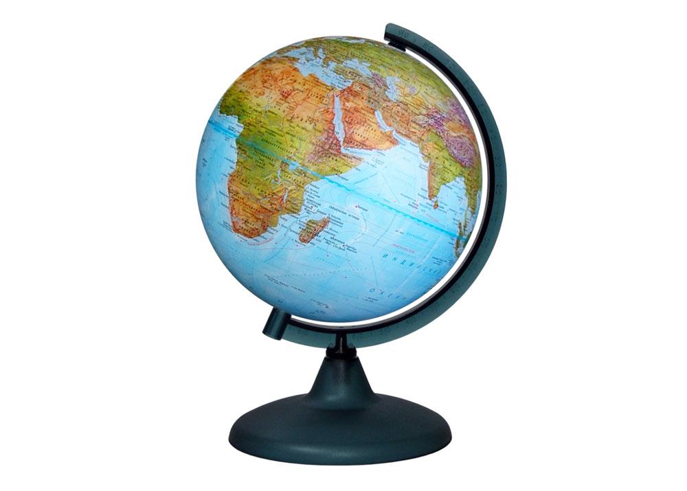 Картинка для Глобус «Двойная карта» диаметром 210 мм, с подсветкой
