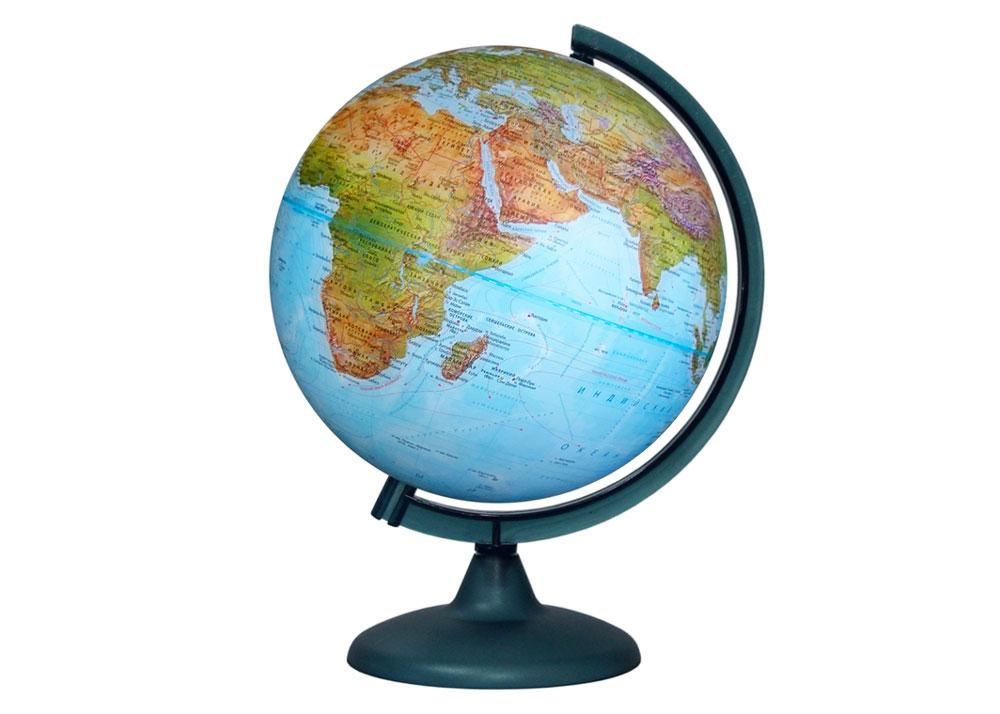 Картинка для Глобус «Двойная карта» диаметром 250 мм, с подсветкой