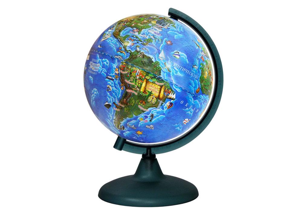 Картинка для Глобус Земли для детей, диаметром 210 мм