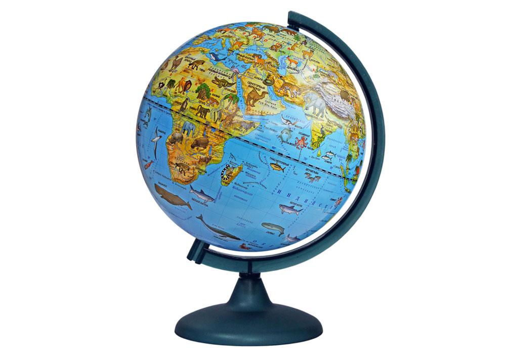 Картинка для Глобус зоогеографический диаметром 250 мм