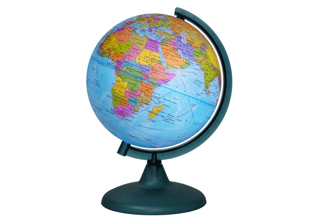 Картинка для Глобус политический диаметром 210 мм, с подсветкой