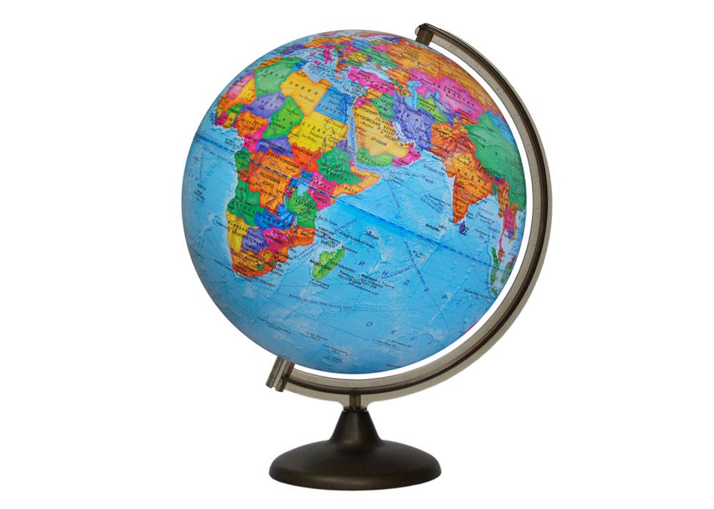 Картинка для Глобус политический диаметром 320 мм, с подсветкой