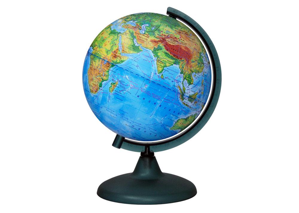 Картинка для Глобус физический диаметром 210 мм, с подсветкой