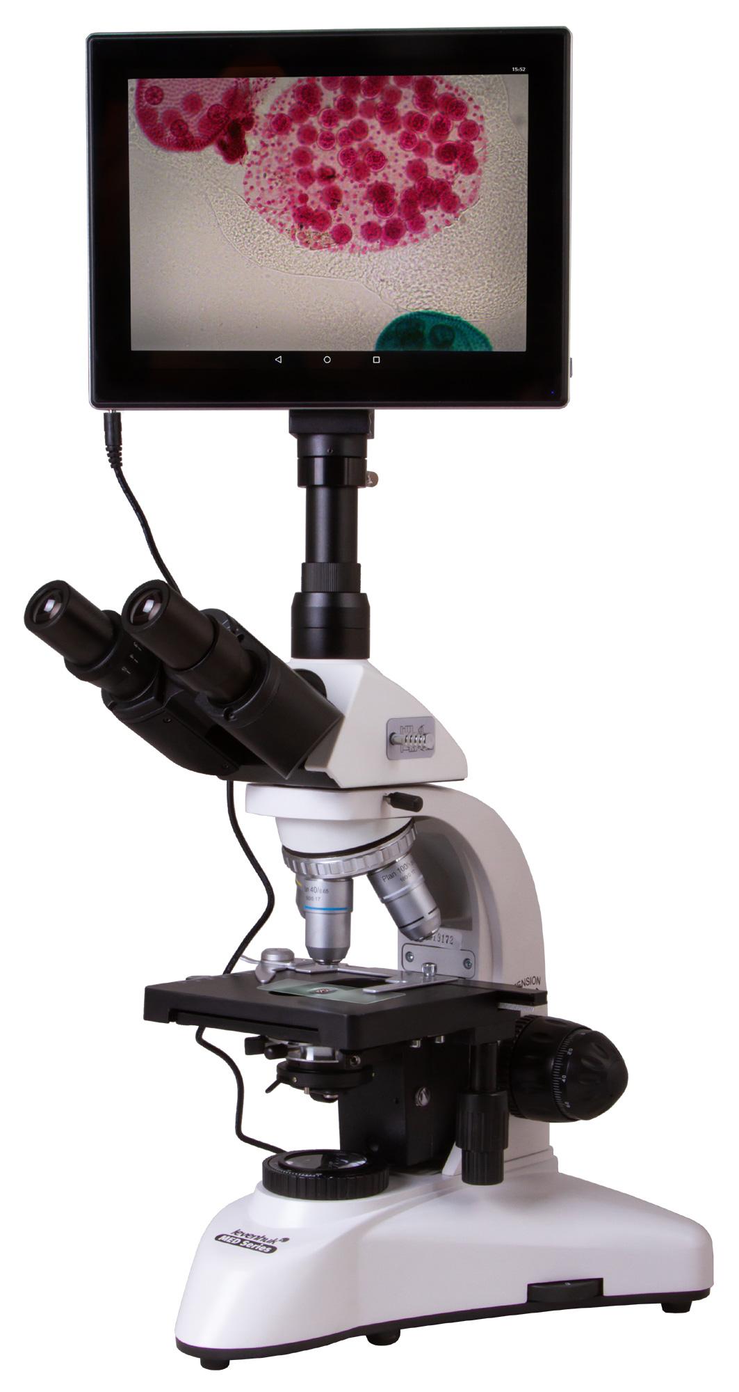 Картинка для Микроскоп цифровой Levenhuk (Левенгук) MED D25T LCD, тринокулярный