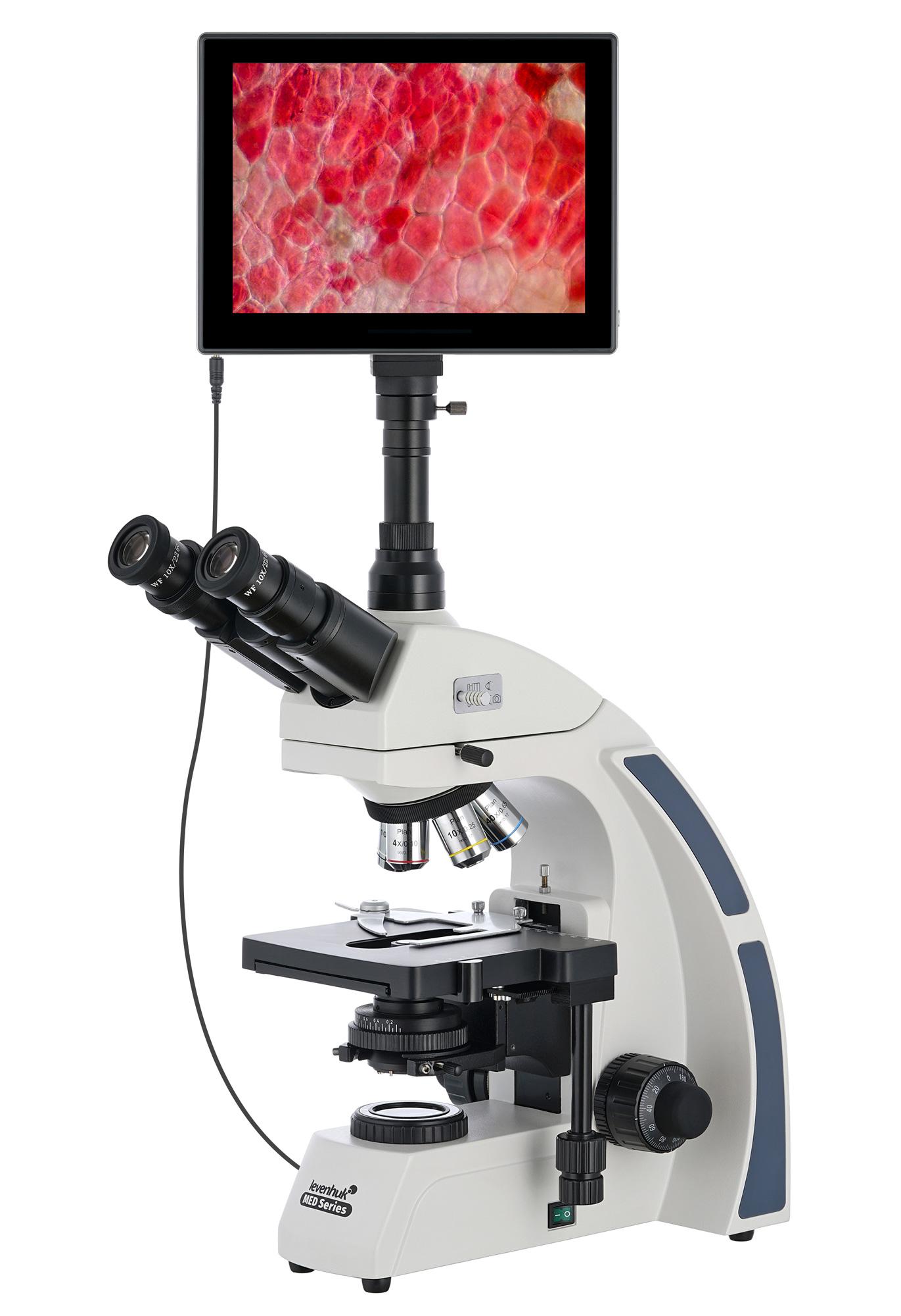 Картинка для Микроскоп цифровой Levenhuk (Левенгук) MED D40T LCD, тринокулярный