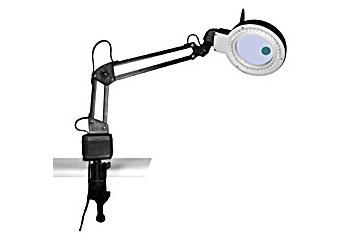 Картинка для Лупа-лампа Kromatech бестеневая 2x/20x, 85/22 мм, на струбцине, с подсветкой (40 LED)