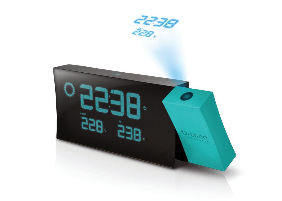 Часы проекционные Oregon Scientific BAR223PN, с термометром и барометром фото