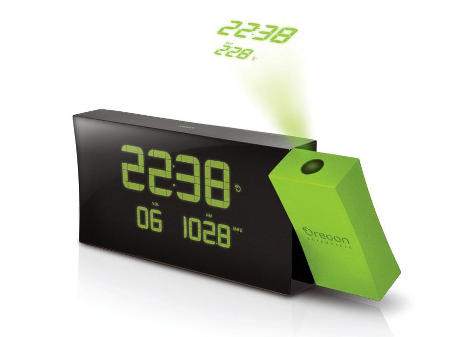 Картинка для Часы проекционные Oregon Scientific Prysma RRM222PN, с термометром и радио