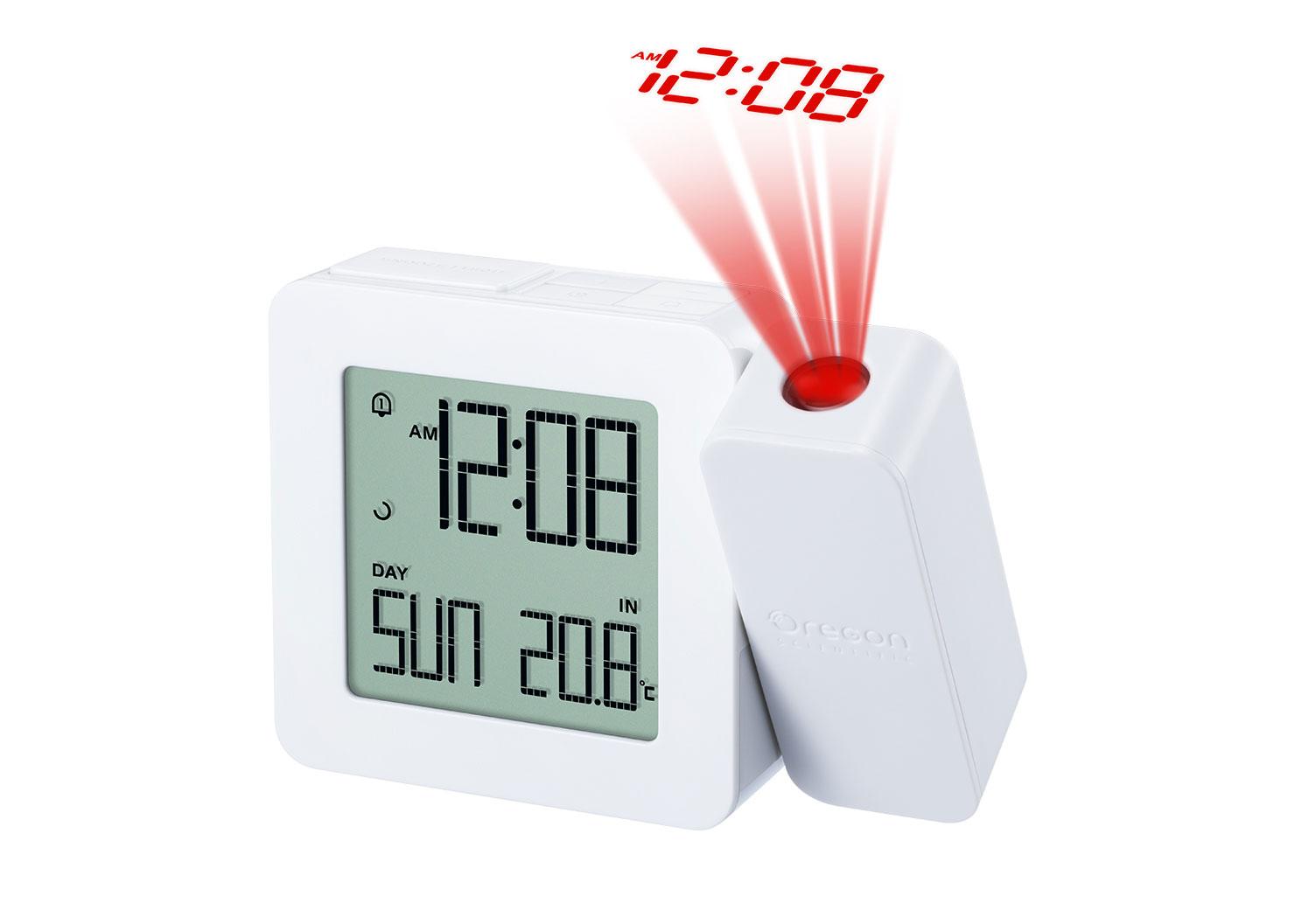 Картинка для Часы проекционные Oregon Scientific RM338PX, с термометром, белые