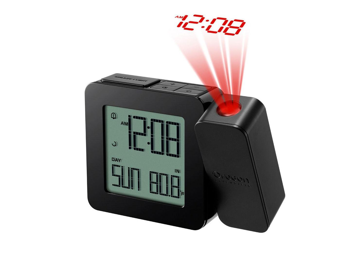 Картинка для Часы проекционные Oregon Scientific RM338PX, с термометром, черные