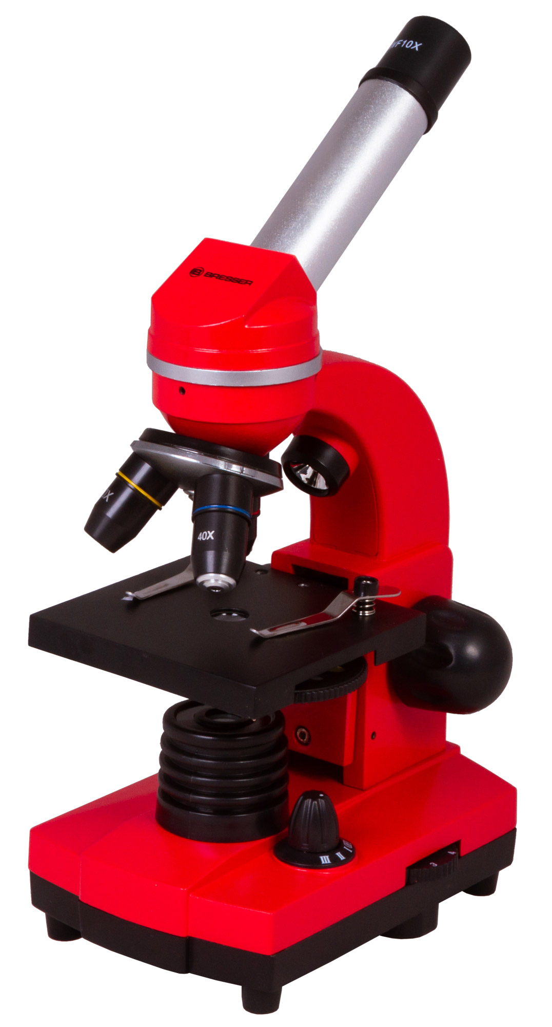Картинка для Микроскоп Bresser (Брессер) Junior Biolux SEL 40–1600x, красный