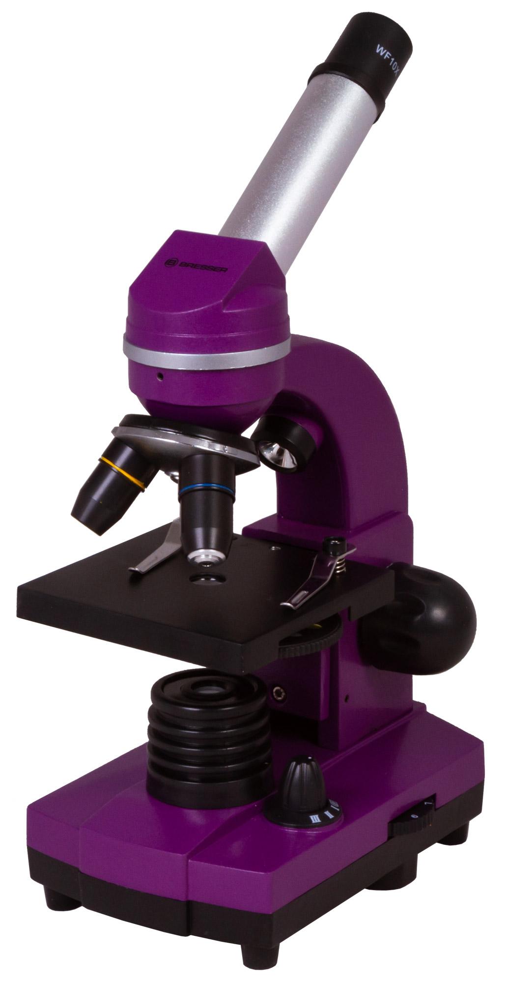 Картинка для Микроскоп Bresser (Брессер) Junior Biolux SEL 40–1600x, фиолетовый