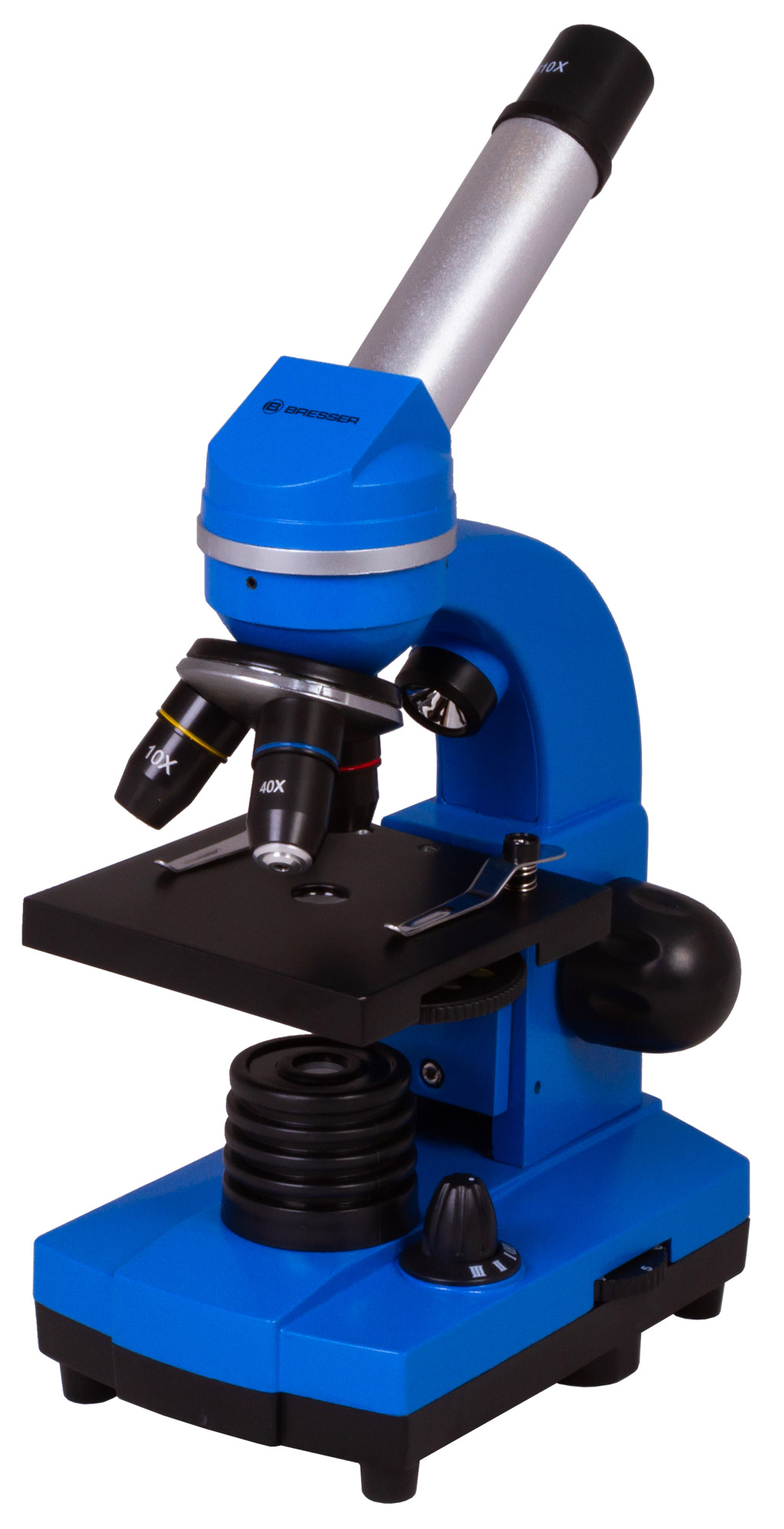 Микроскоп Bresser (Брессер) Junior Biolux SEL 40–1600x, синий фото