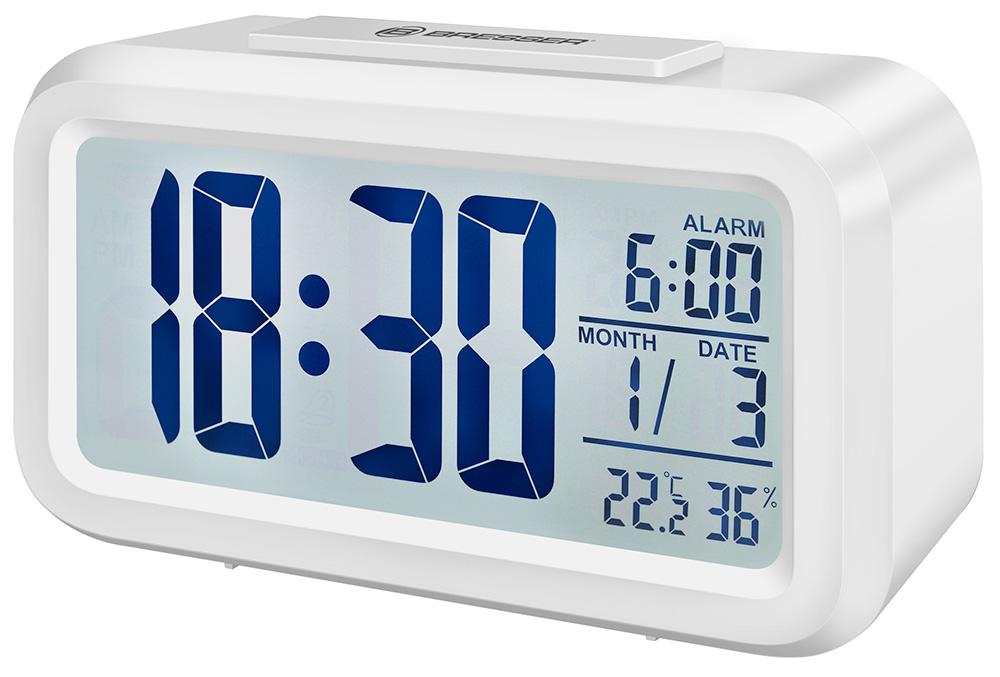 Картинка для Часы настольные Bresser (Брессер) MyTime Duo LCD, белые