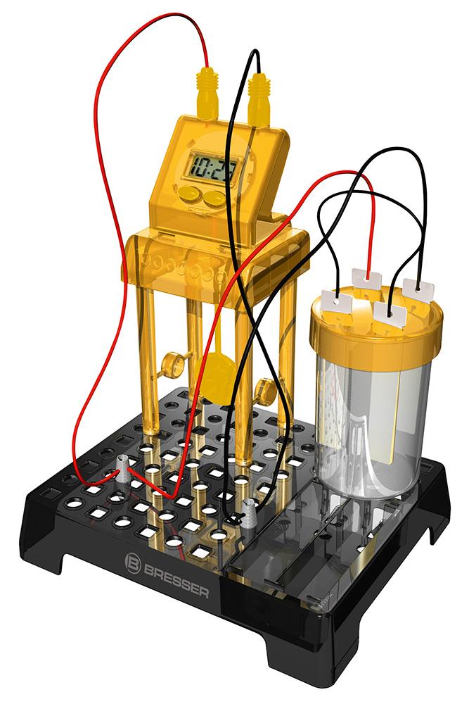 Картинка для Набор для экспериментов Bresser (Брессер) Junior «Часы на жидкостном аккумуляторе»