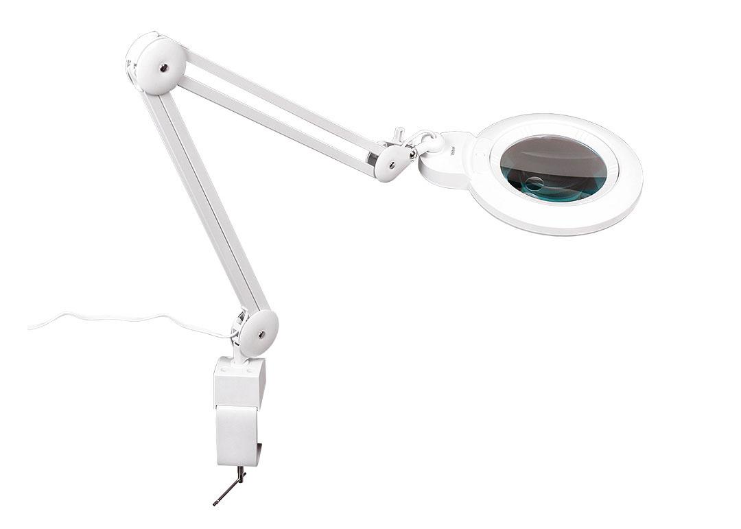 Картинка для Лупа-лампа на струбцине Veber LED Bi-color, со сменными линзами и подсветкой (8608D)
