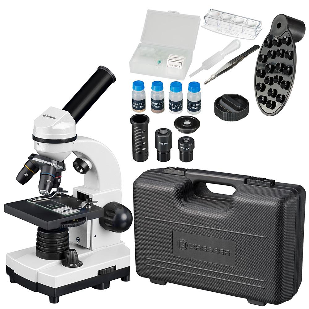 Картинка для Микроскоп Bresser (Брессер) Junior Biolux SEL 40–1600x, белый, в кейсе