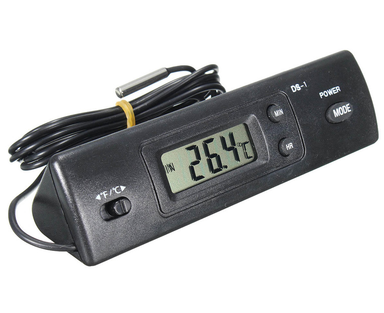 Картинка для Термометр цифровой Kromatech DS-1, с часами и внешним датчиком