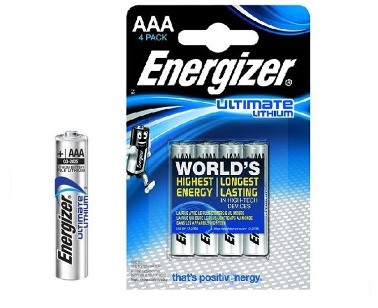Картинка для Элемент питания Energizer Ultimate AAA LR03/FR03 (4 шт.), литиевый