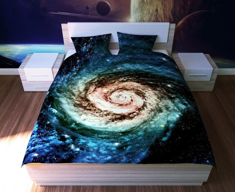 Картинка для Комплект постельного белья NEWTONE «Галактика», 1,5-спальное