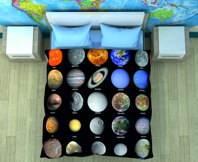 Картинка для Комплект постельного белья NEWTONE «Планеты», 1,5-спальное