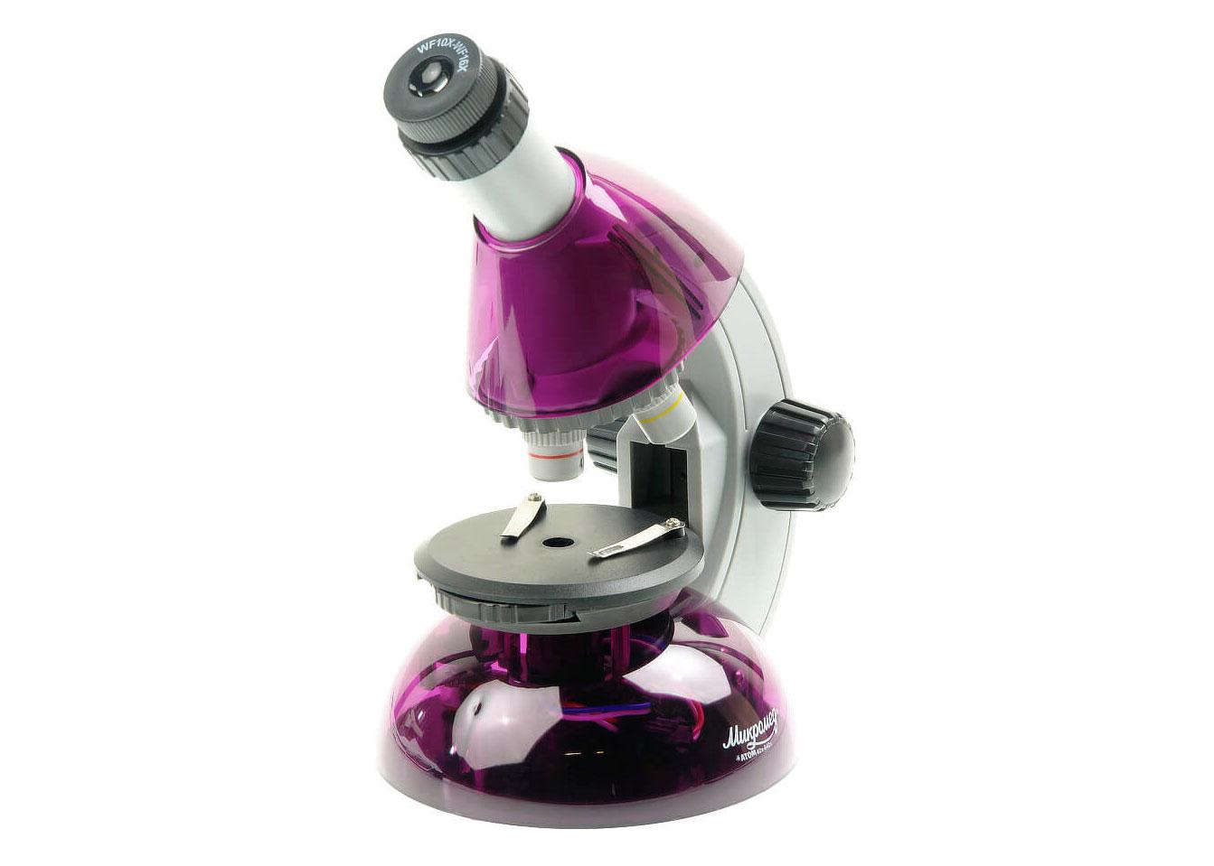Картинка для Микроскоп Микромед «Атом» 40–640x, аметист