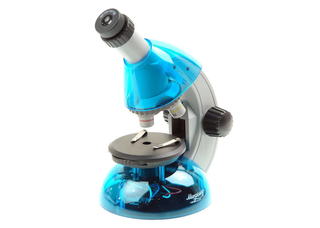 Картинка для Микроскоп Микромед «Атом» 40–640x, лазурь