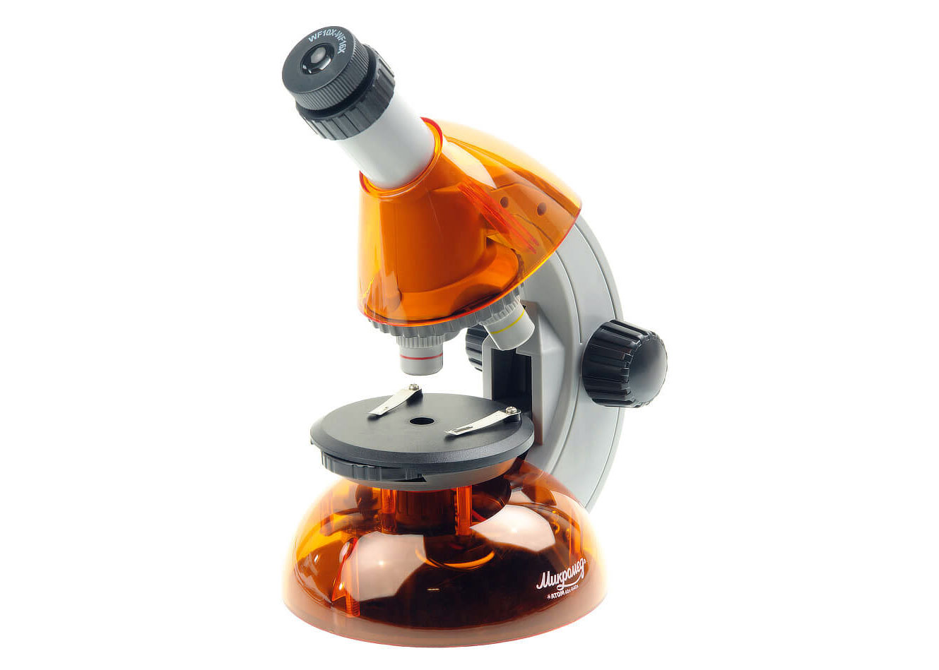Картинка для Микроскоп Микромед «Атом» 40–640x, апельсин