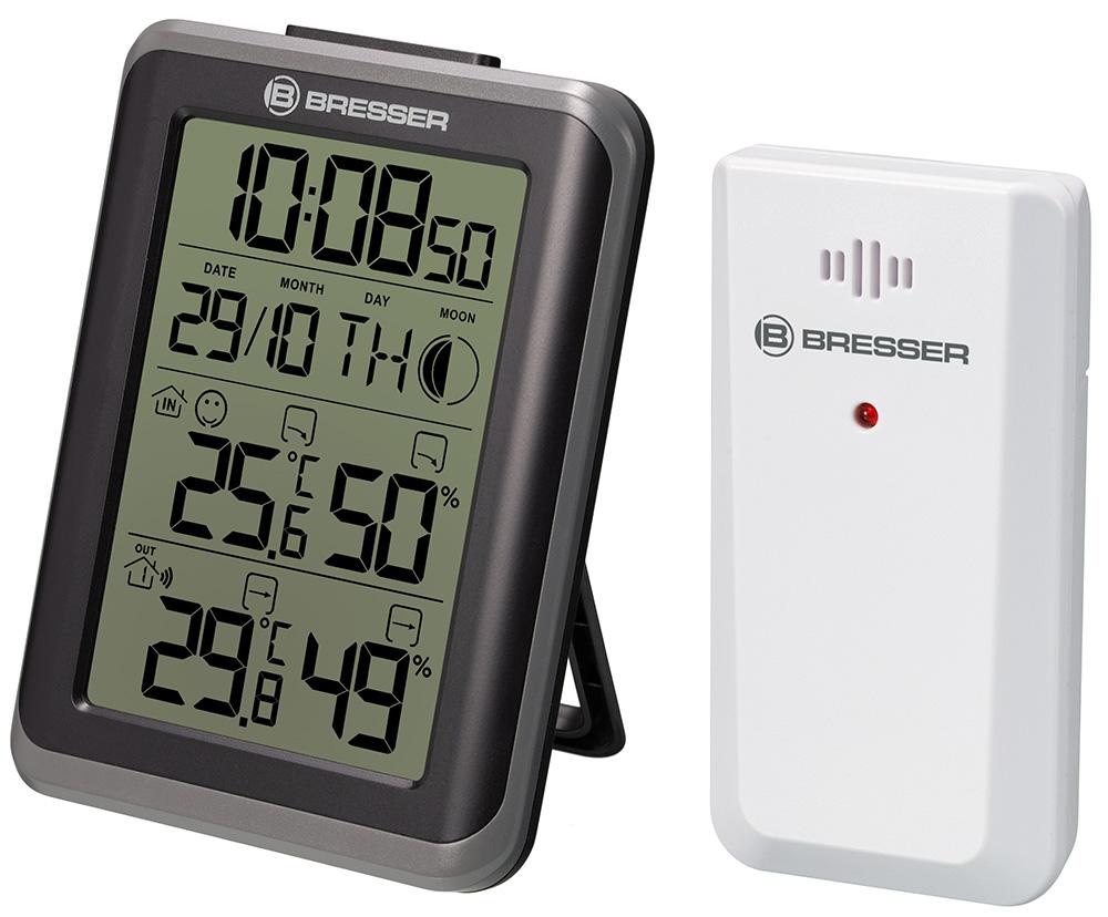 Картинка для Гигрометр с часами Bresser (Брессер) MyClimate, черный
