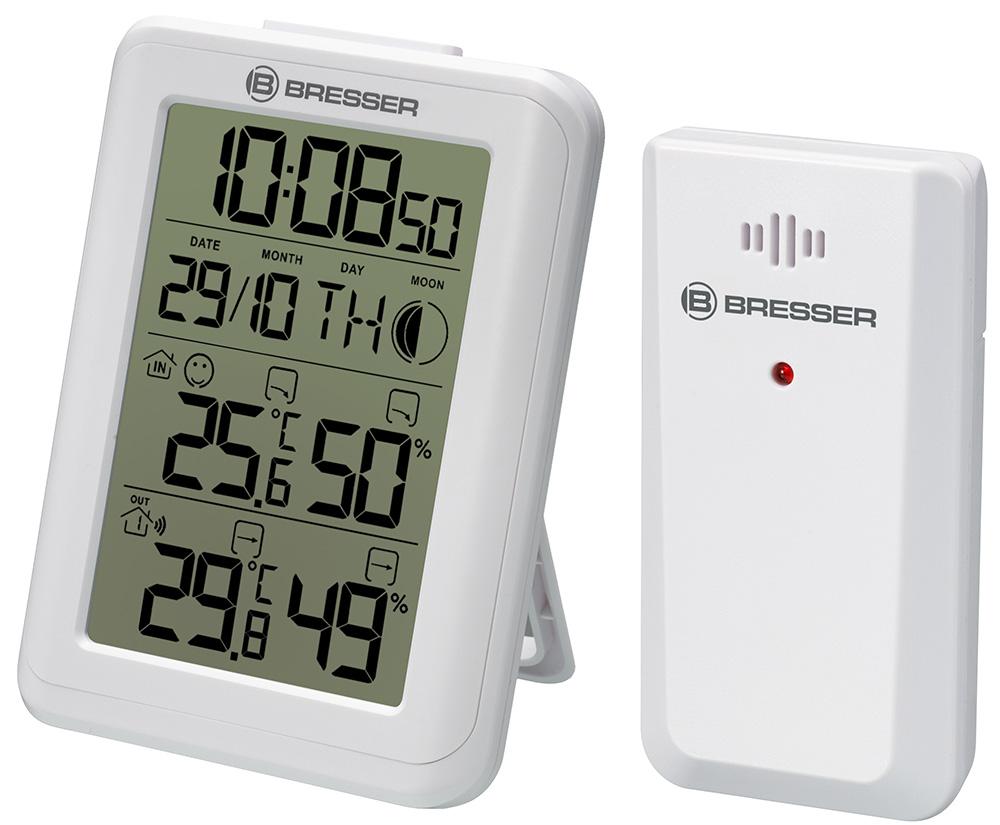 Картинка для Гигрометр с часами Bresser (Брессер) MyClimate, белый