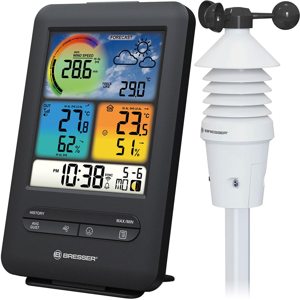 Картинка для Метеостанция Bresser (Брессер) «3 в 1» Wi-Fi с датчиком ветра и цветным дисплеем, профессиональная