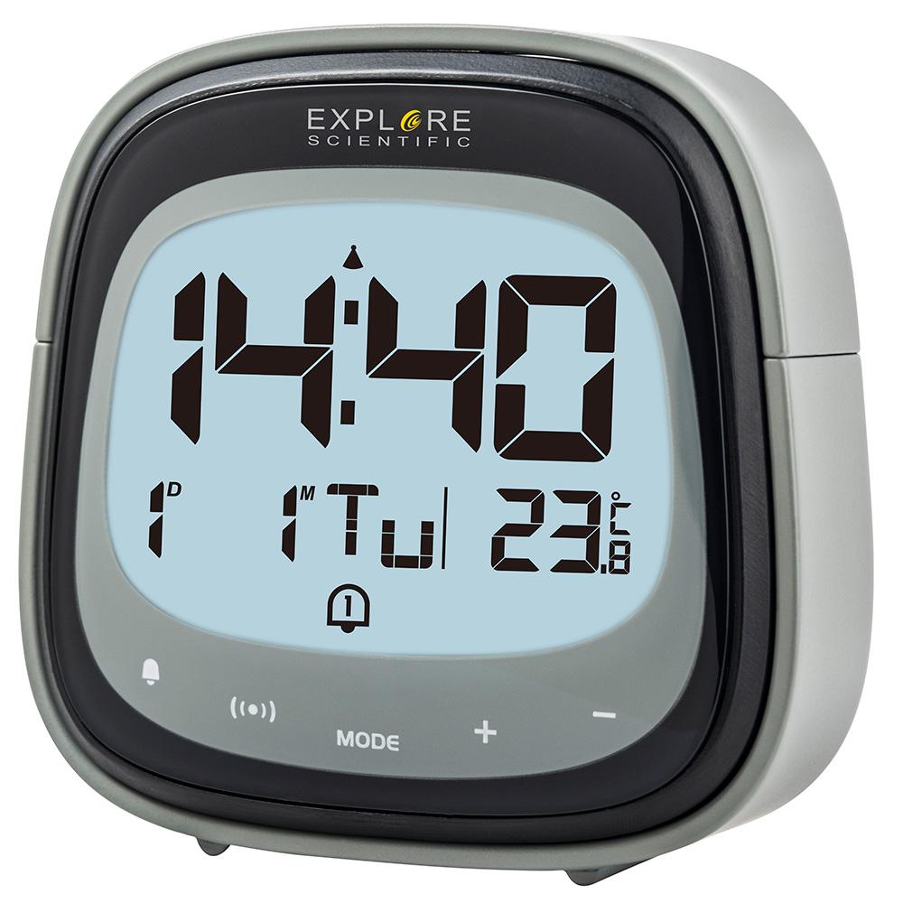 Картинка для Часы цифровые Explore Scientific Dual с будильником, черные