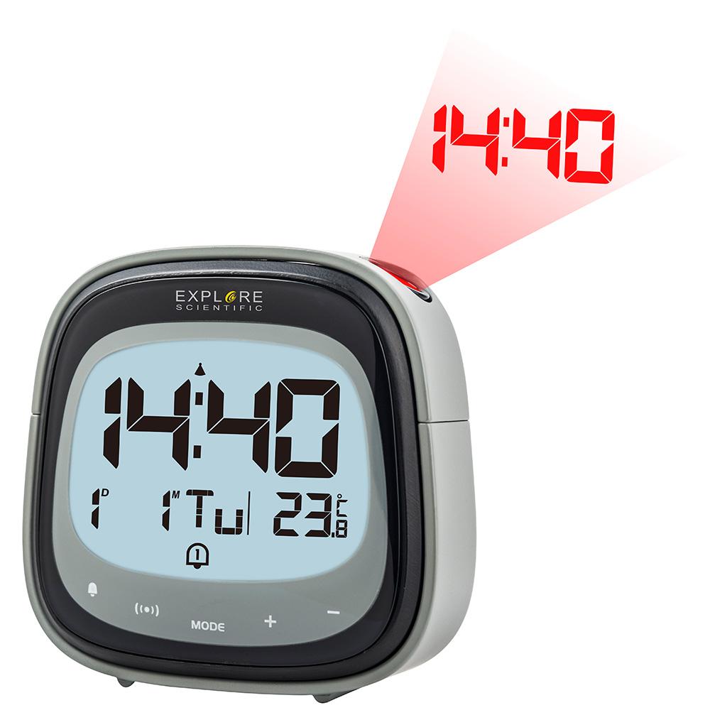 Картинка для Часы цифровые Explore Scientific с проектором, черные