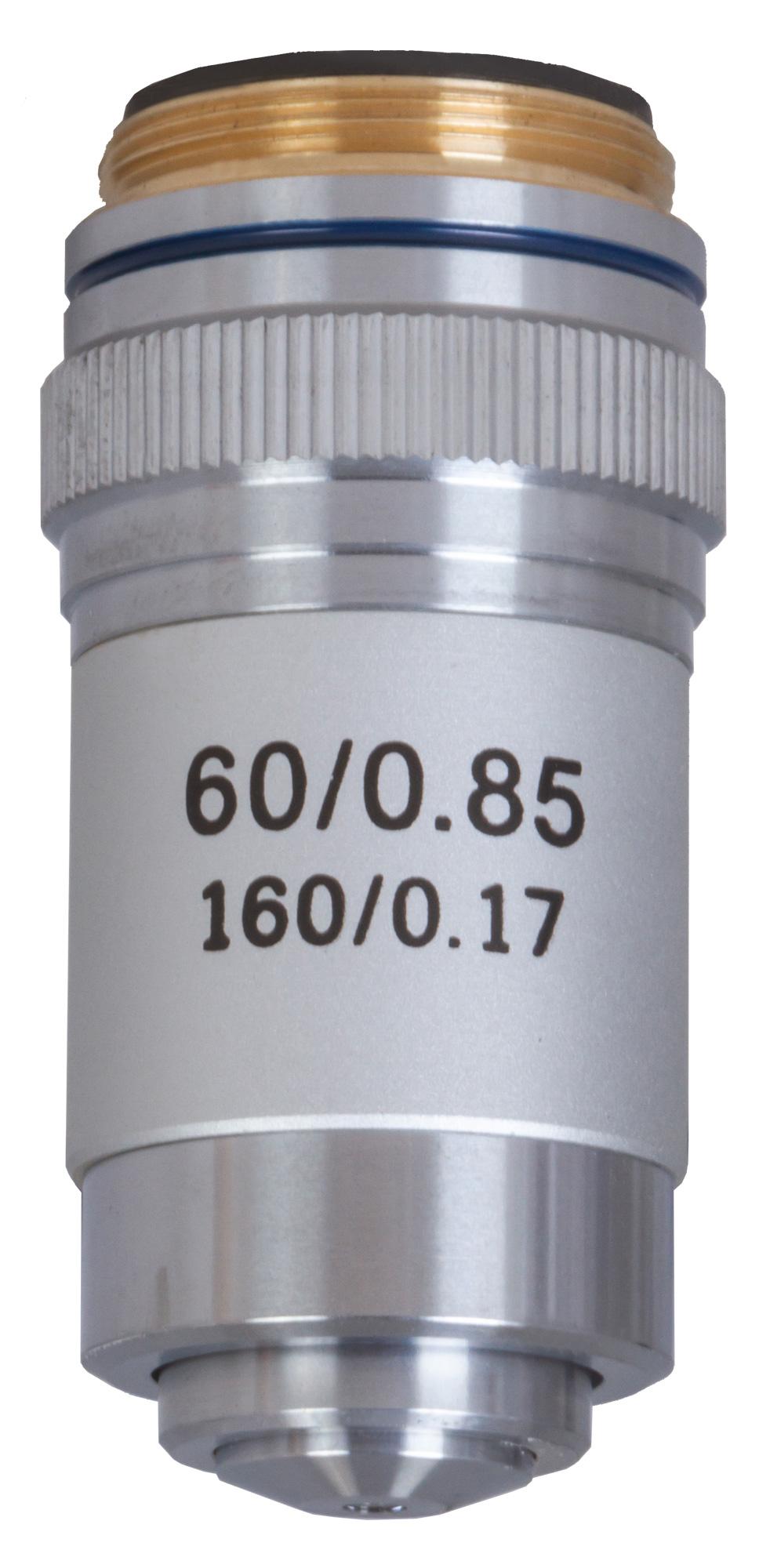 Картинка для Объектив ахроматический Levenhuk (Левенгук) MED 60x
