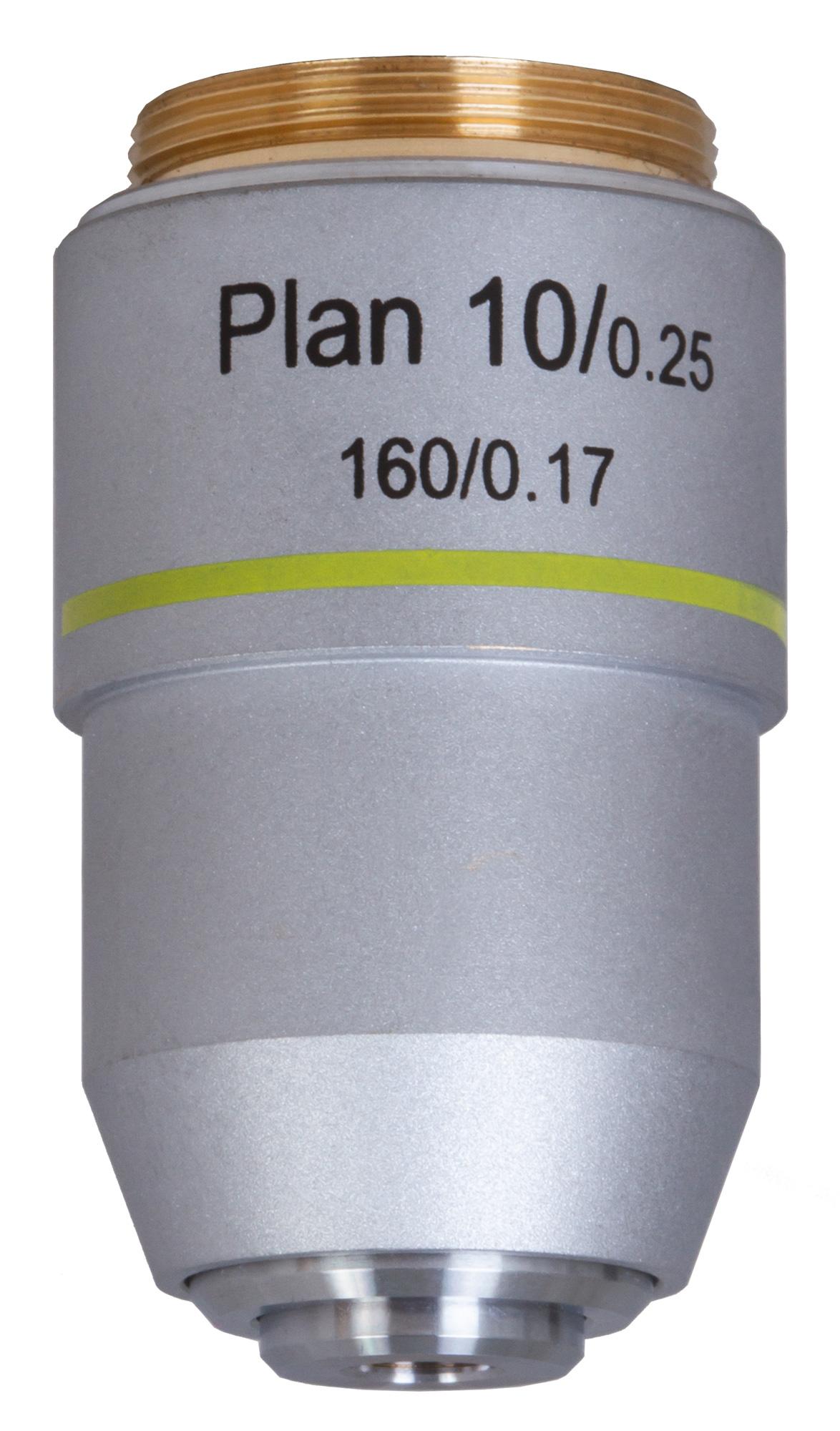 Картинка для Объектив планахроматический Levenhuk (Левенгук) MED 10x