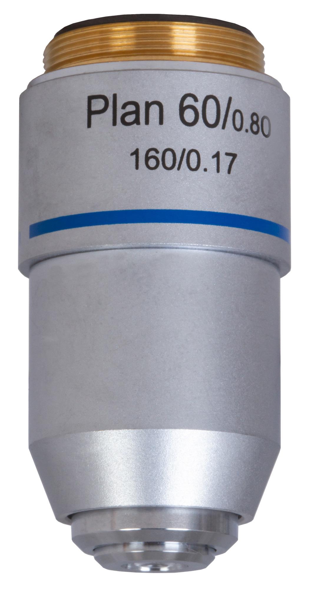 Картинка для Объектив планахроматический Levenhuk (Левенгук) MED 60x