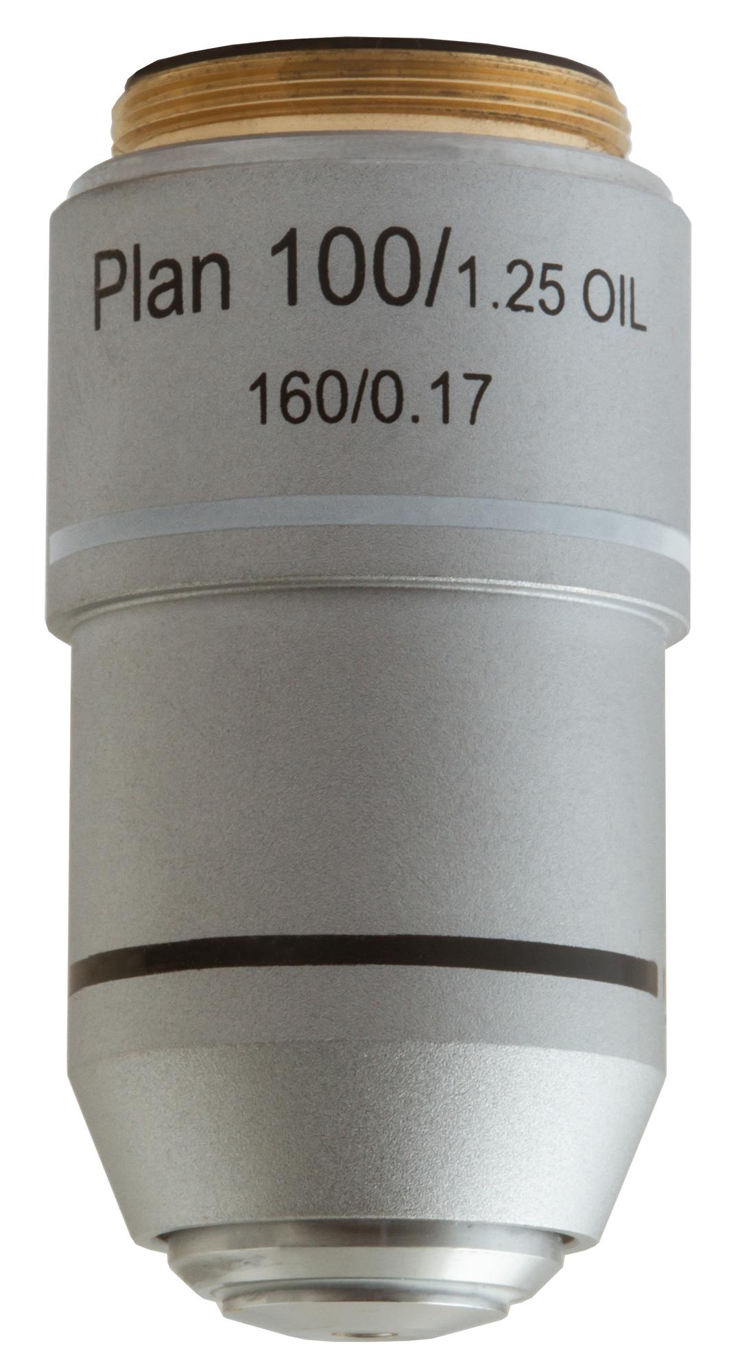 Картинка для Объектив планахроматический Levenhuk (Левенгук) MED 100x