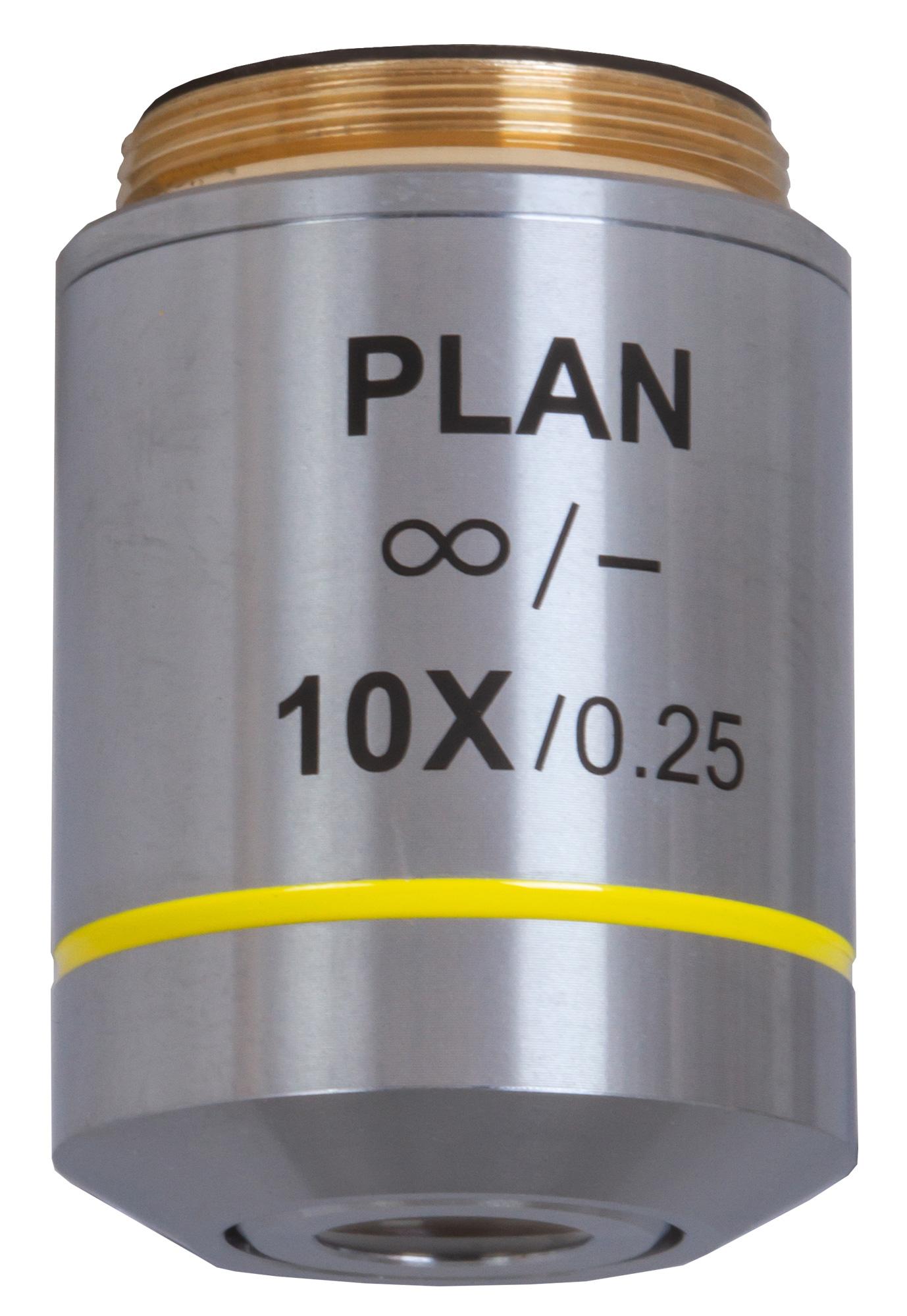 Объектив планахроматический Levenhuk (Левенгук) MED 10x/беск фото