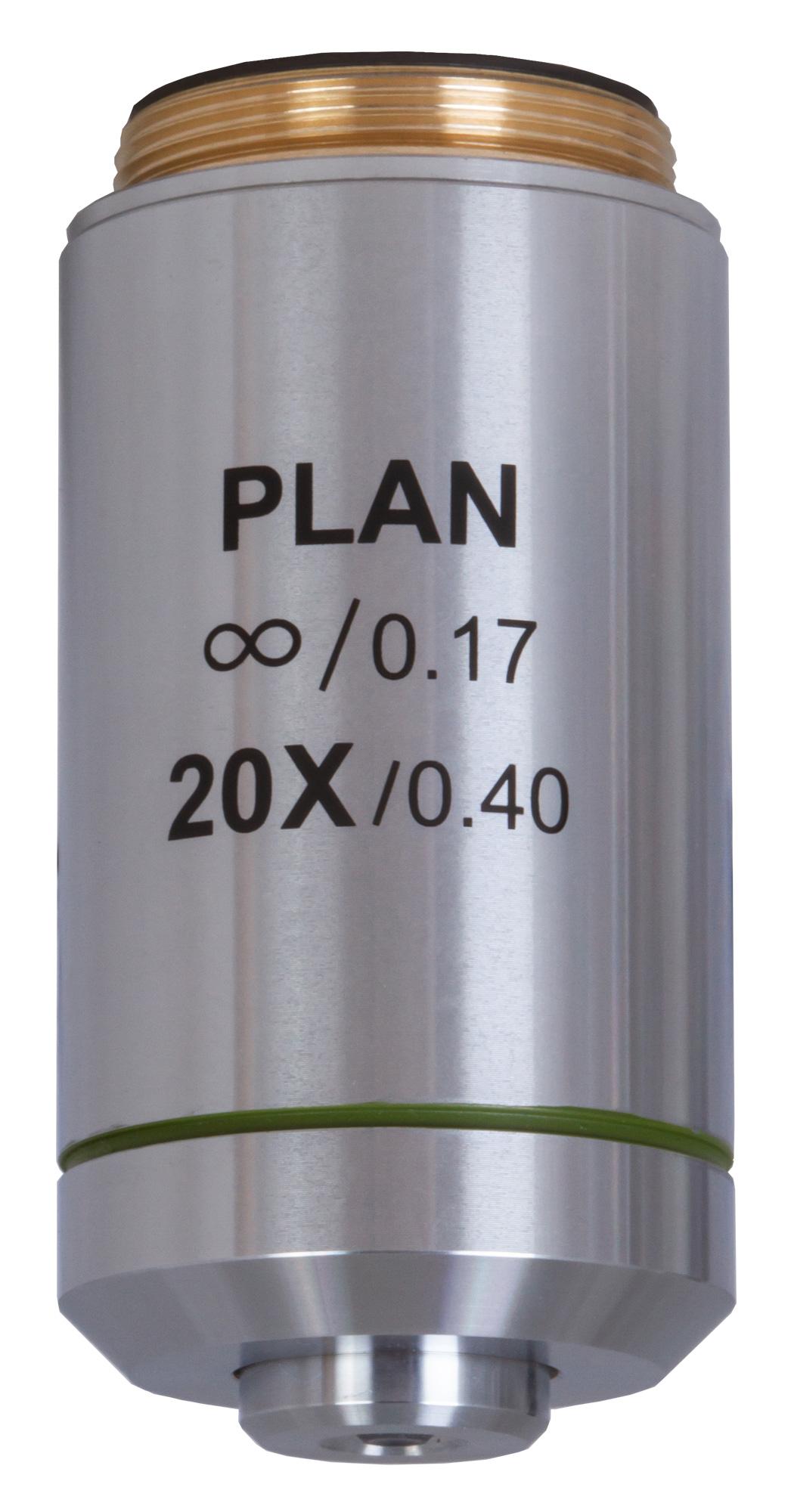 Картинка для Объектив планахроматический Levenhuk (Левенгук) MED 20x/беск