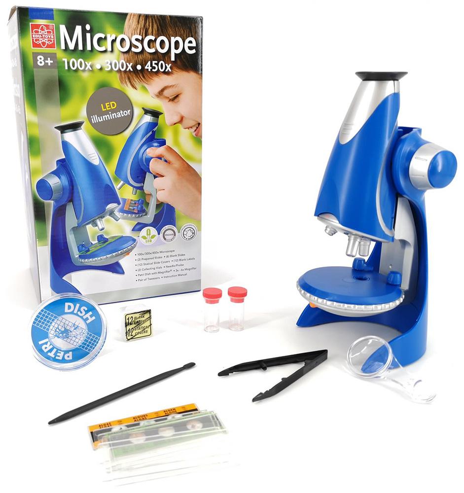 Картинка для Микроскоп игрушечный EDU-TOYS 100–450x