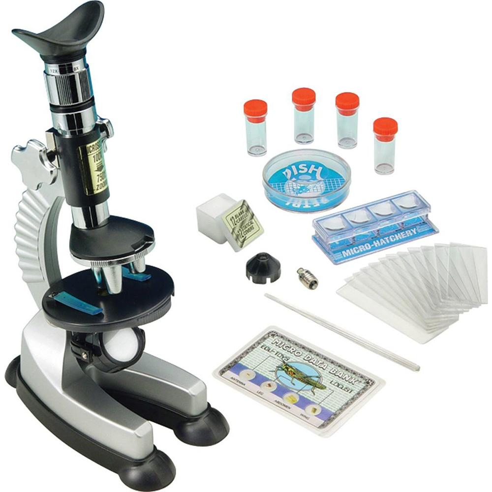 Картинка для Микроскоп игрушечный EDU-TOYS 100–750x