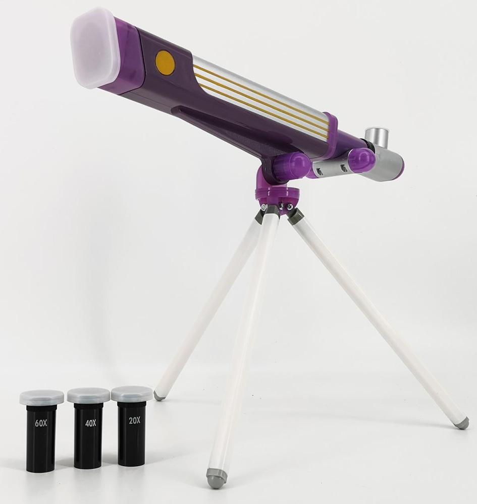 Картинка для Телескоп игрушечный EDU-TOYS 20x, 40x, 60x