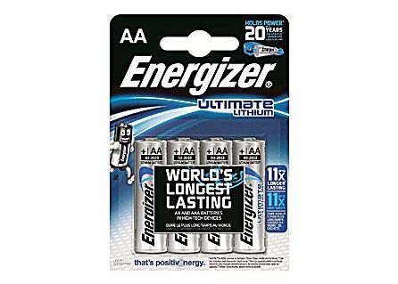 Картинка для Элемент питания Energizer Ultimate AA LR6/FR6 (4 шт.), литиевый
